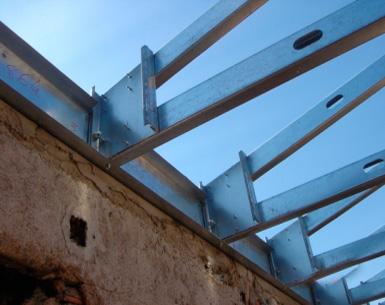 Bloken construção aço leve estrutura sistema LSF reabilitacao